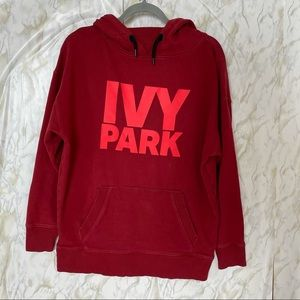 IVY PARK men's small red hoodie pullover Beyoncé